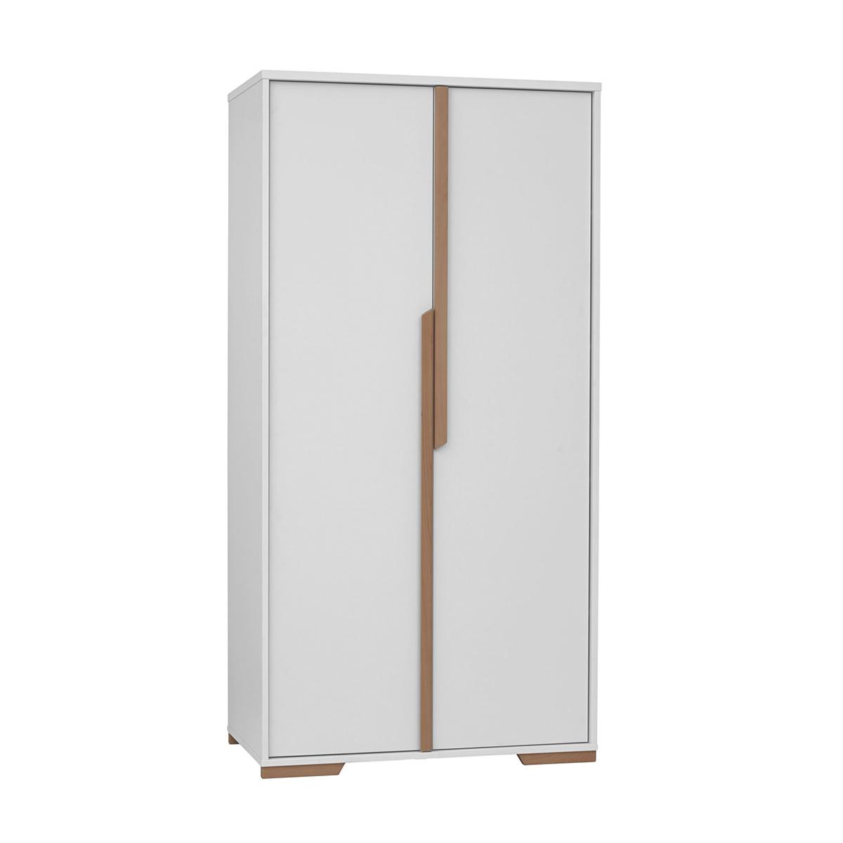 Armoire Pinio 2 portes Blanc bois et Snap redxoCB