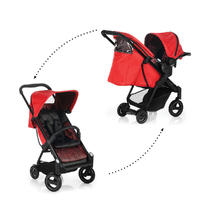 Poussette Combinée iCoo Acrobat Shop and Drive - Fishbone Red