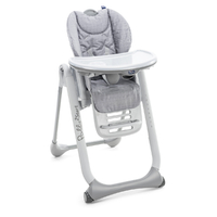 Chaise Haute Chicco Polly 2 Start - Happy Silver