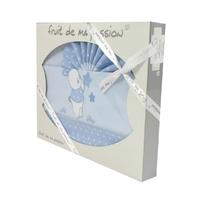 Coffret Parure de draps bleu - Motif Lapin Etoiles