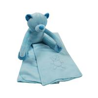 Couverture polaire et peluche King Bear Ours - Bleu