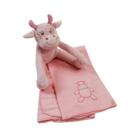 Couverture polaire et peluche King Bear Vache - Rose