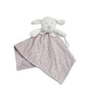 Doudou pour bébé King Bear à pois 3D avec attache sucette Chien - Camel