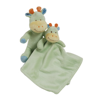 Peluche et doudou en fleece pour bébé King Bear Vache - Vert
