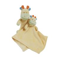 Peluche et doudou en fleece pour bébé King Bear Vache - Jaune