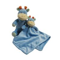 Peluche et doudou en fleece pour bébé King Bear Vache - Bleu