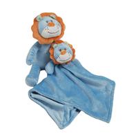 Peluche et doudou en fleece pour bébé King Bear Lion - Bleu
