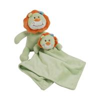 Peluche et doudou en fleece pour bébé King Bear Lion - Vert