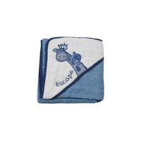 Cape de bain pour bébé King Bear Girafe - Blanc et bleu