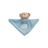 Doudou triangle pour bébé King Bear Ours - Bleu