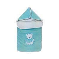Nid d'ange pour bébé 0 à 6 Mois vert d'eau - Motif Nounours