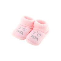 Chaussons pour bébé 0 à 3 Mois rose - J'aime tata