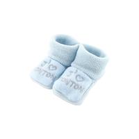 Chaussons pour bébé 0 à 3 Mois bleu - J'aime tonton