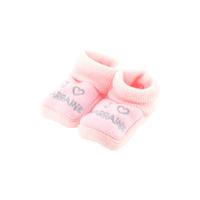 Chaussons pour bébé 0 à 3 Mois rose - J'aime marraine