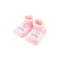 Chaussons pour bébé 0 à 3 Mois rose - J'aime mamie