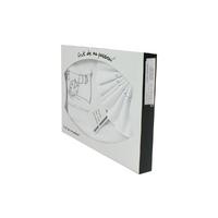 Coffret Parure de draps pour berceau, landau, couffin blanc et gris - Motif Coccinelle