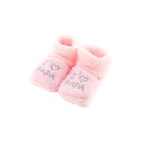 Chaussons pour bébé 0 à 3 Mois rose - J'aime papa