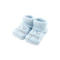 Chaussons pour bébé 0 à 3 Mois bleu - J'aime maman