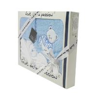 Coffret Sortie de bain bleu - Motif Nounours