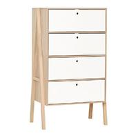 Commode 4 tiroirs Vox Spot - Blanc