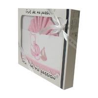 Coffret Parure de draps rose étoiles - Motif Ourson jouets