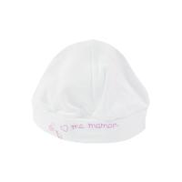Bonnet pour bébé 0 à 6 Mois blanc et rose - J'aime ma maman