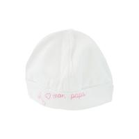 Bonnet pour bébé 0 à 6 Mois blanc et rose - J'aime mon papa