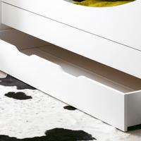 Tiroir de lit Junior Provence Féroé - Blanc