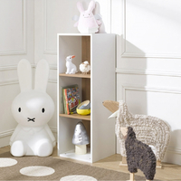 Meuble de rangement Junior Provence 3 cases - Blanc