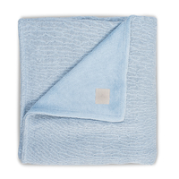 Couverture bébé Jollein 100x150cm Soft Knit Teddy - Bleu