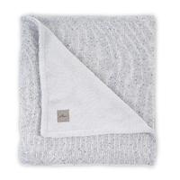 Couverture bébé Jollein 100x150cm Confetti Knit Teddy - Gris
