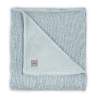 Couverture bébé Jollein 100x150cm Confetti Knit Teddy - Vert d'eau