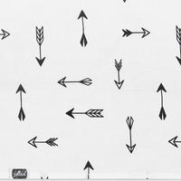 Drap Jollein 120x150cm Indians Flèche - Noir et blanc