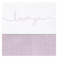 Drap Jollein 75x100cm Love you - Rose
