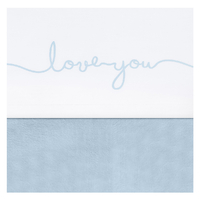 Drap Jollein 75x100cm Love you - Bleu