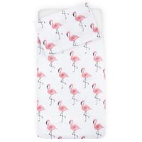 Housse de couette Jollein 120x150cm Tropical Flamingo - Rose