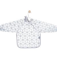 Bavoir à manches plastifié Jollein Graphic - Gris