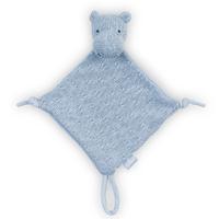Doudou pour bébé avec attache sucette Jollein Soft Knit Hippo - Bleu