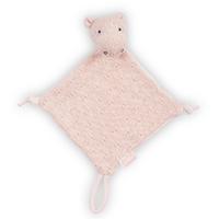 Doudou pour bébé avec attache sucette Jollein Soft Knit Hippo - Pêche