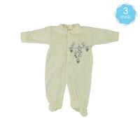 Babygro pour bébé 3 Mois beige - Motif Souris