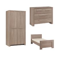 Chambre complète lit junior 90x190 - commode 3 tiroirs - armoire 2 portes Gami Hangun - Bois