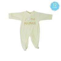 Babygro pour bébé 12 Mois beige - J'aime ma maman
