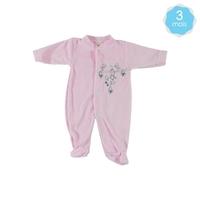 Babygro pour bébé 3 Mois rose - Motif Souris
