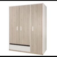Armoire 3 portes Gami Tiago - Blanc Bois