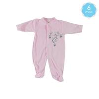 Babygro pour bébé 6 Mois rose - Motif Souris