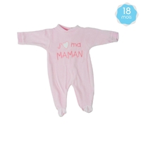 Babygro pour bébé 18 Mois rose - J'aime ma maman