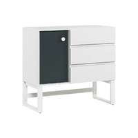 Commode 3 tiroirs Vox Nest - Blanc Gris