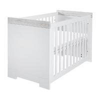 Lit bébé 60x120 Twf Futura - Blanc Gris