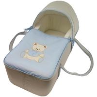 Couffin pour bébé gris et bleu ciel - Motif Nounours