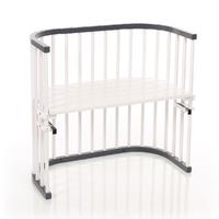 Berceau cododo Babybay Original - Laqué gris ardoise et blanc